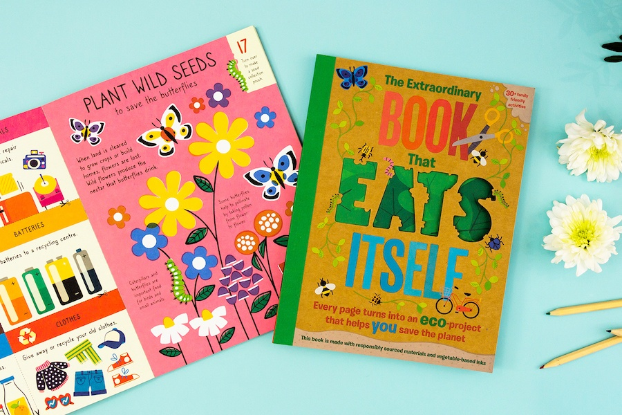 The Extraordinary Book that Eats Itself: the eco-forward book full of hands-on, earth-saving fun