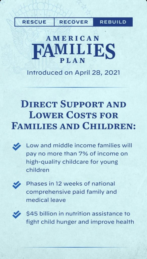 What's in the American families plan: Direct support and lower costs