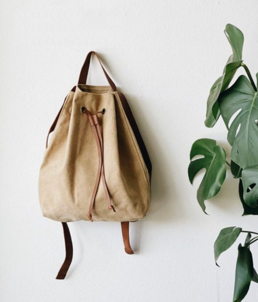 Amazing steal: This canvas and leather backpack, handmade by an LA maker on Etsy