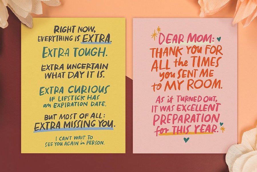 The perfect pandemic era Mother's Day cards, from hilarious to oof…my heart.