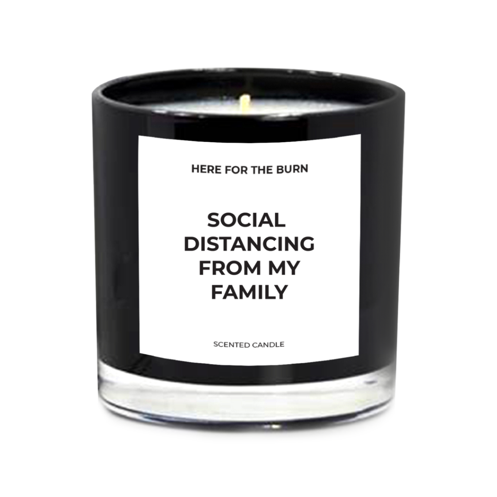 Funny candle for a cool Mother's Day gift for mom's home office, via Here for the Burn
