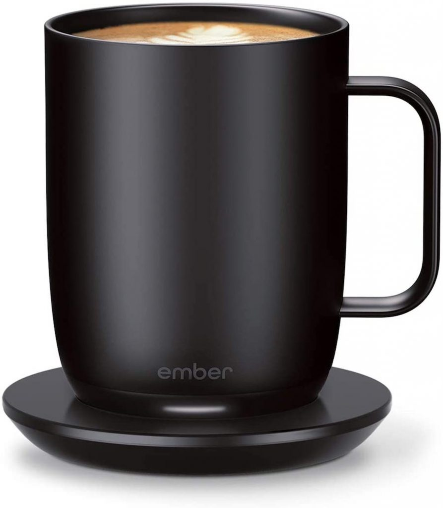 Home office gifts for moms: an Ember temperature-controlled coffee mug