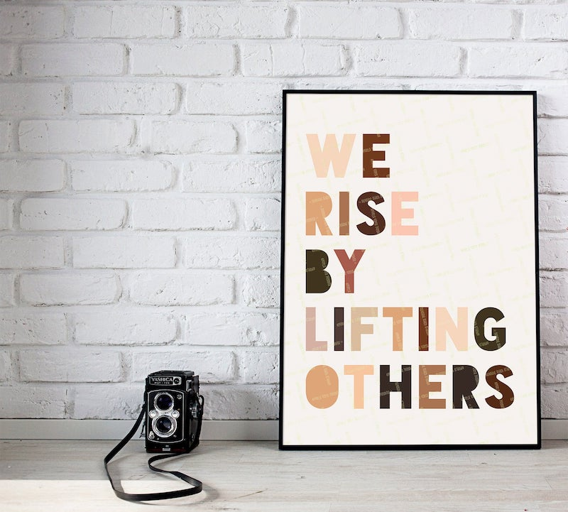 Home office gifts for mom: an inspirational art print by Seaside Shed Studio for her desk