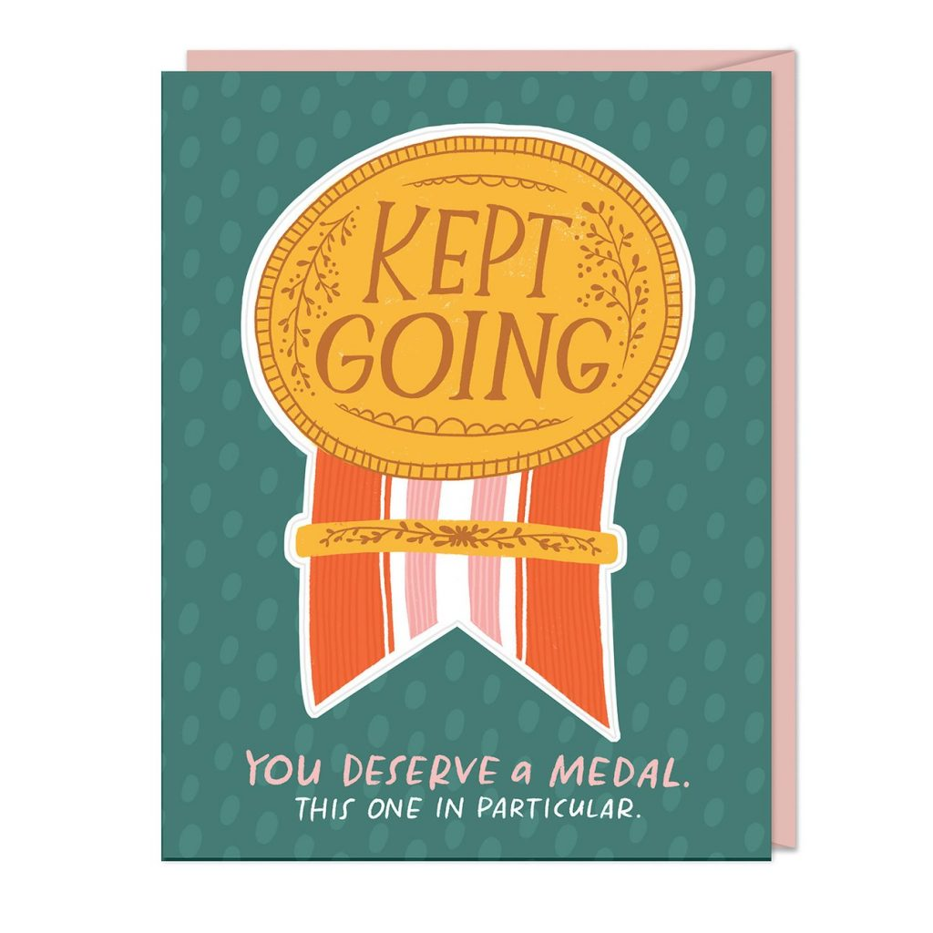 Pandemic Mother's Day cards: This medal is a sticker she can remove