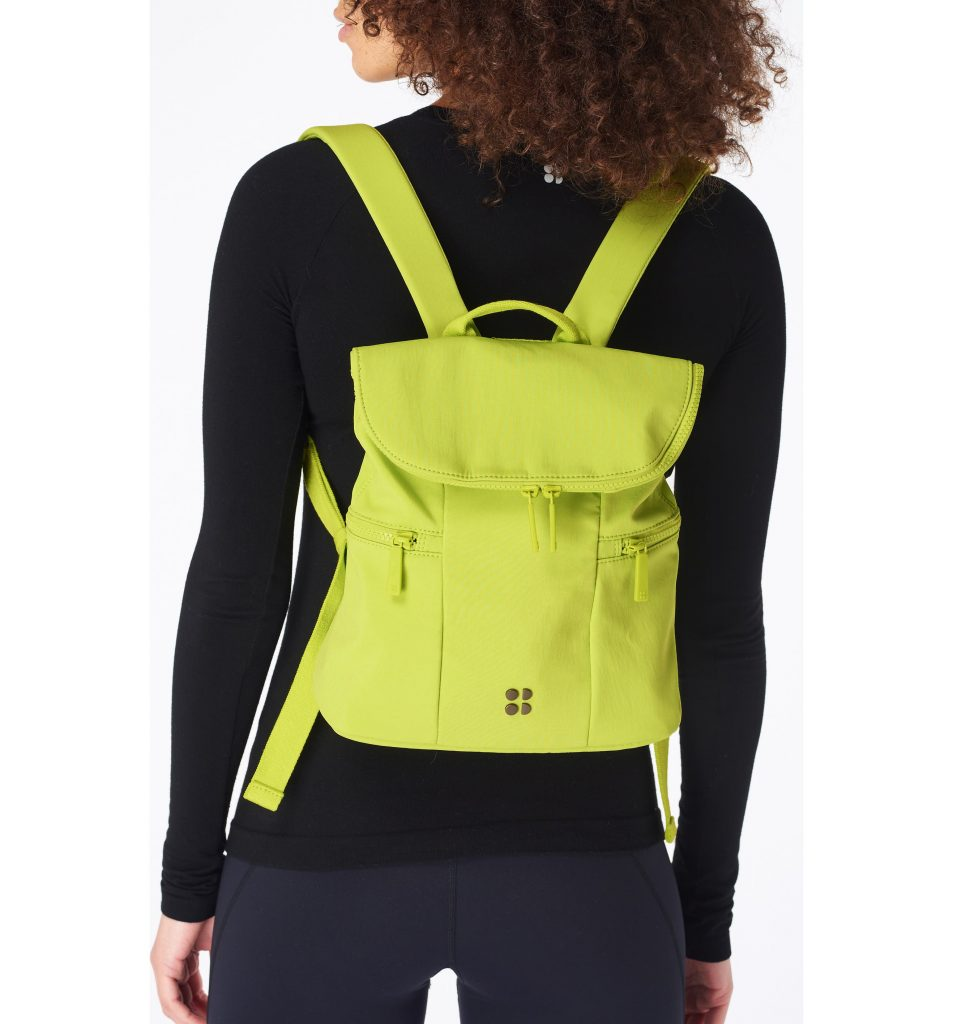 Cute summer backpacks: lime mini pack from Sweaty Betty