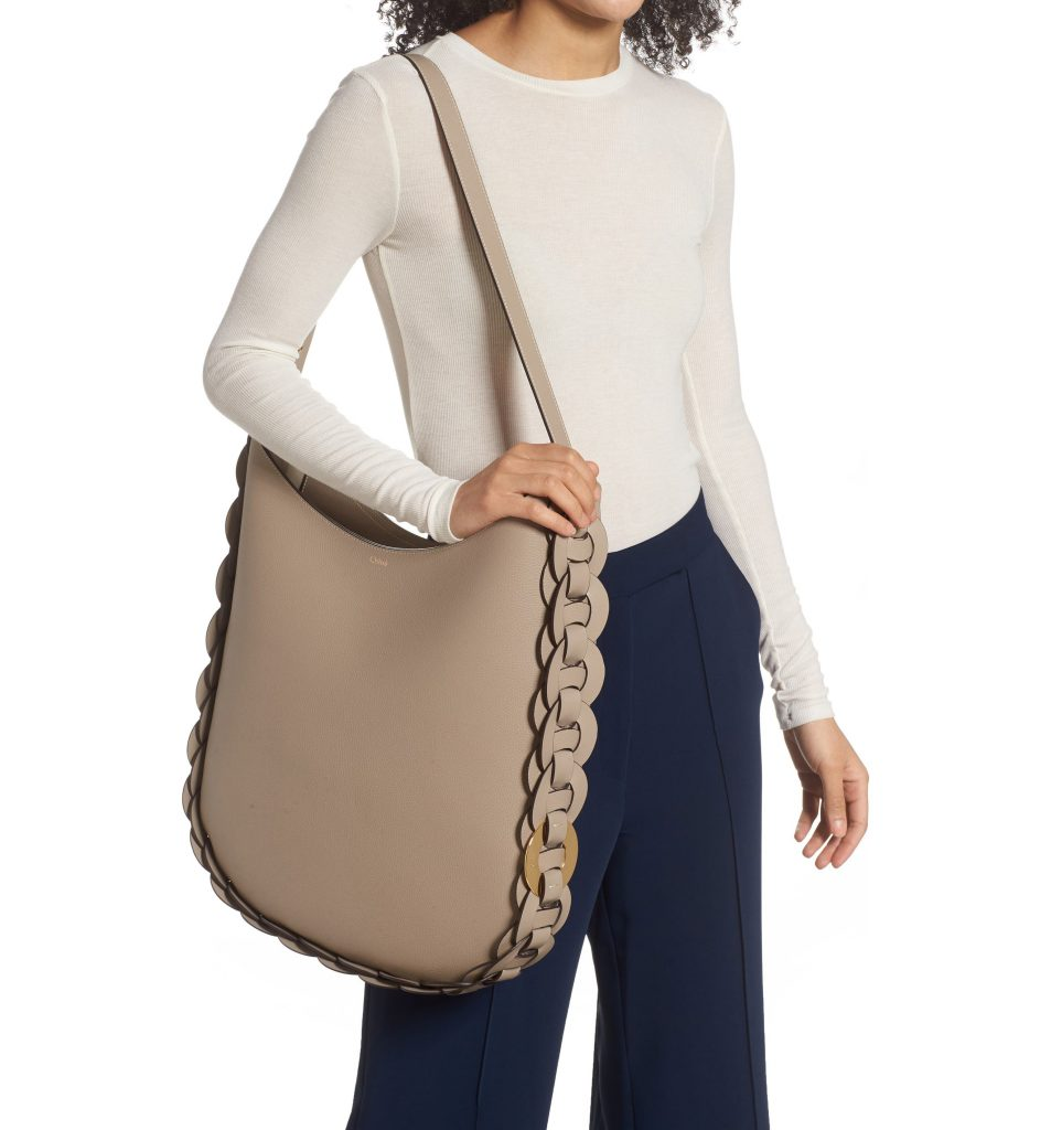 oversized bags for spring and summer: For a splurge, this large hobo from Chloe is amazing