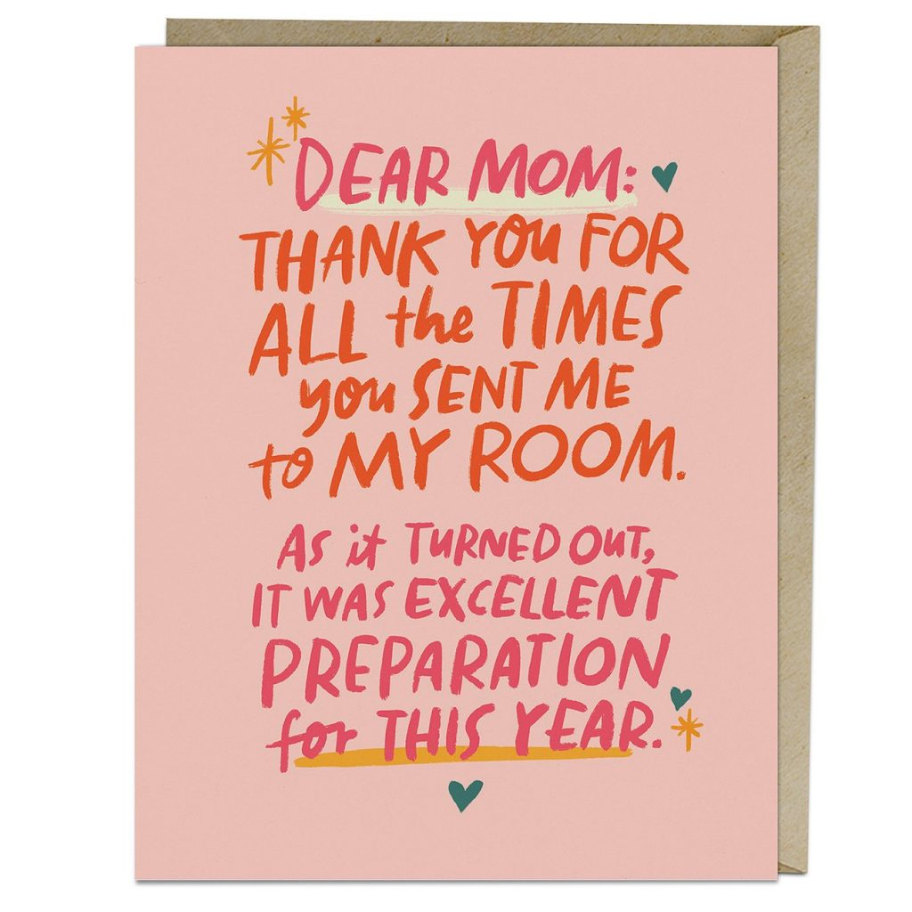 A funny pandemic Mother's Day card perfect for 2021