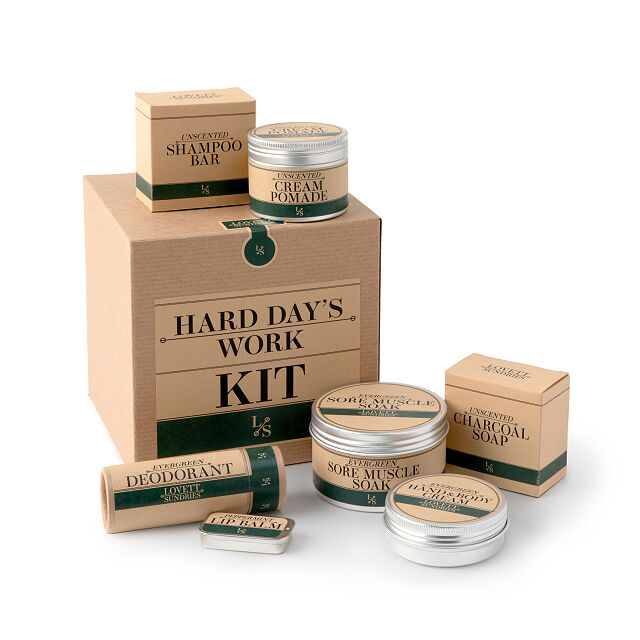 Creative Father's Day gifts: Hard Days Work skincare set is all natural, pampering, and he'd never buy it for himself