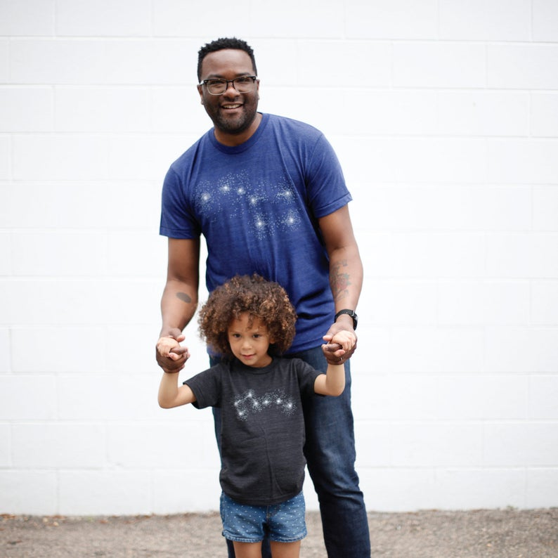 Creative Father's Day gifts: Daddy and Me big and Little Dipper t-shirt sets from Blackbird Supply