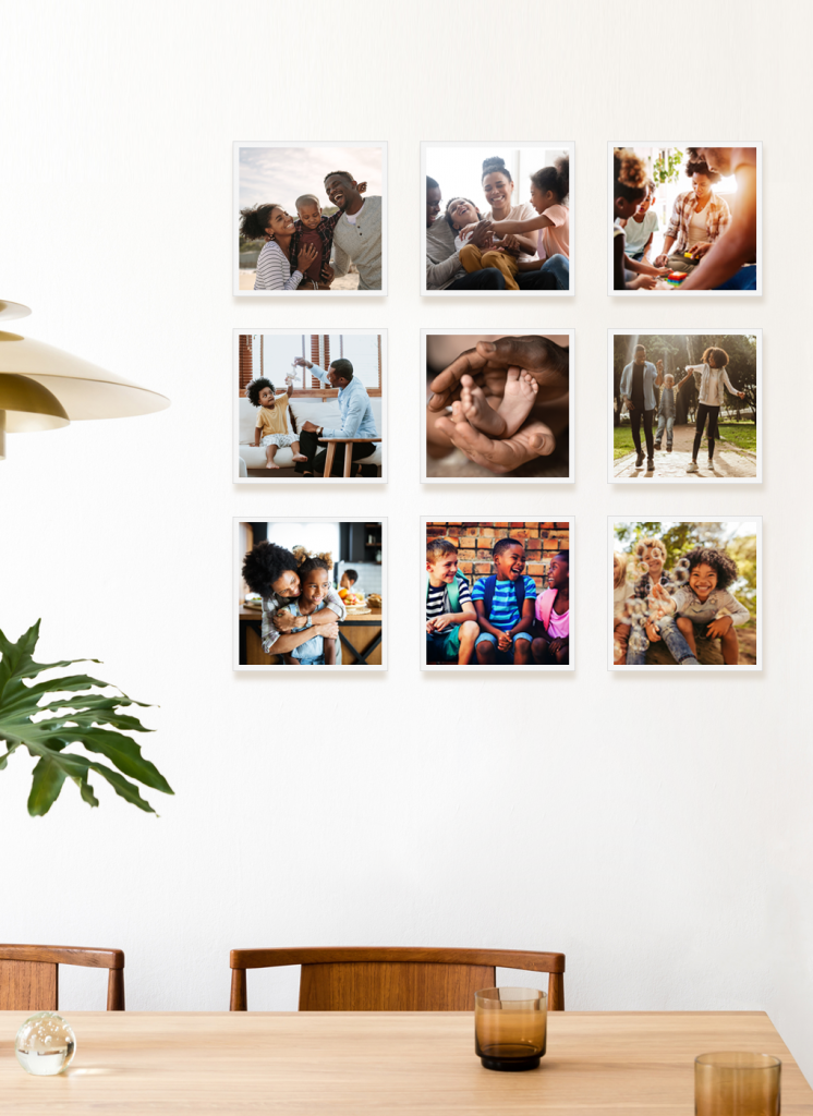 TilePix is a fantastic Father's Day gift for dads and grandpas: The magnetic frames make it easy to hang, swap out, and reposition family photos