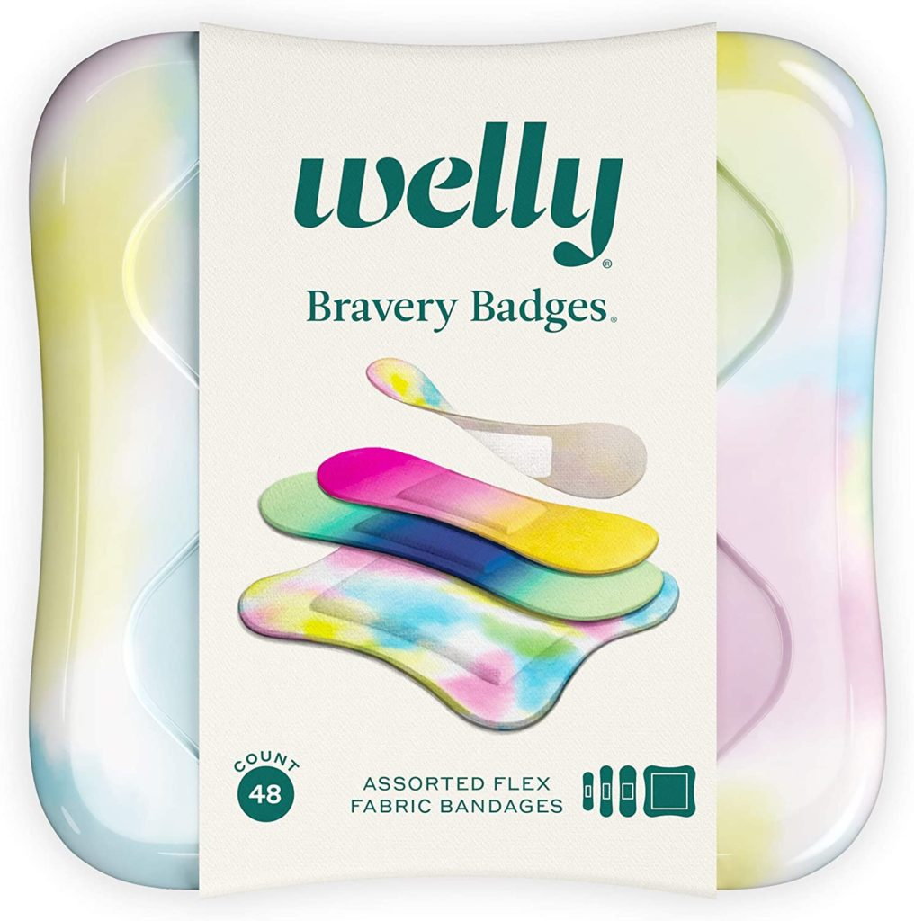 Welly's tie-dye bandages are perfect for summer camp and make a practical care package gift