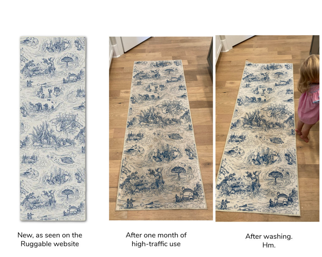 Our experience with Ruggable rugs: Are they really washable as promised?