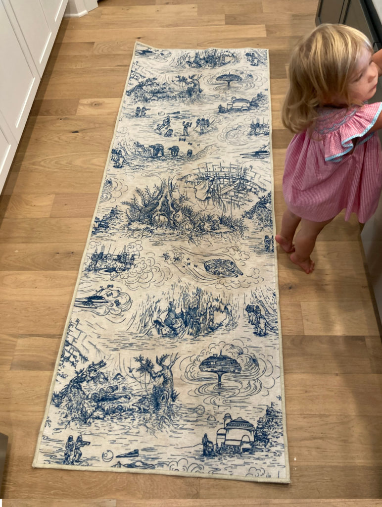 An honest review of Ruggable rugs: This is my Ruggable rug shortly after I washed and dried it.
