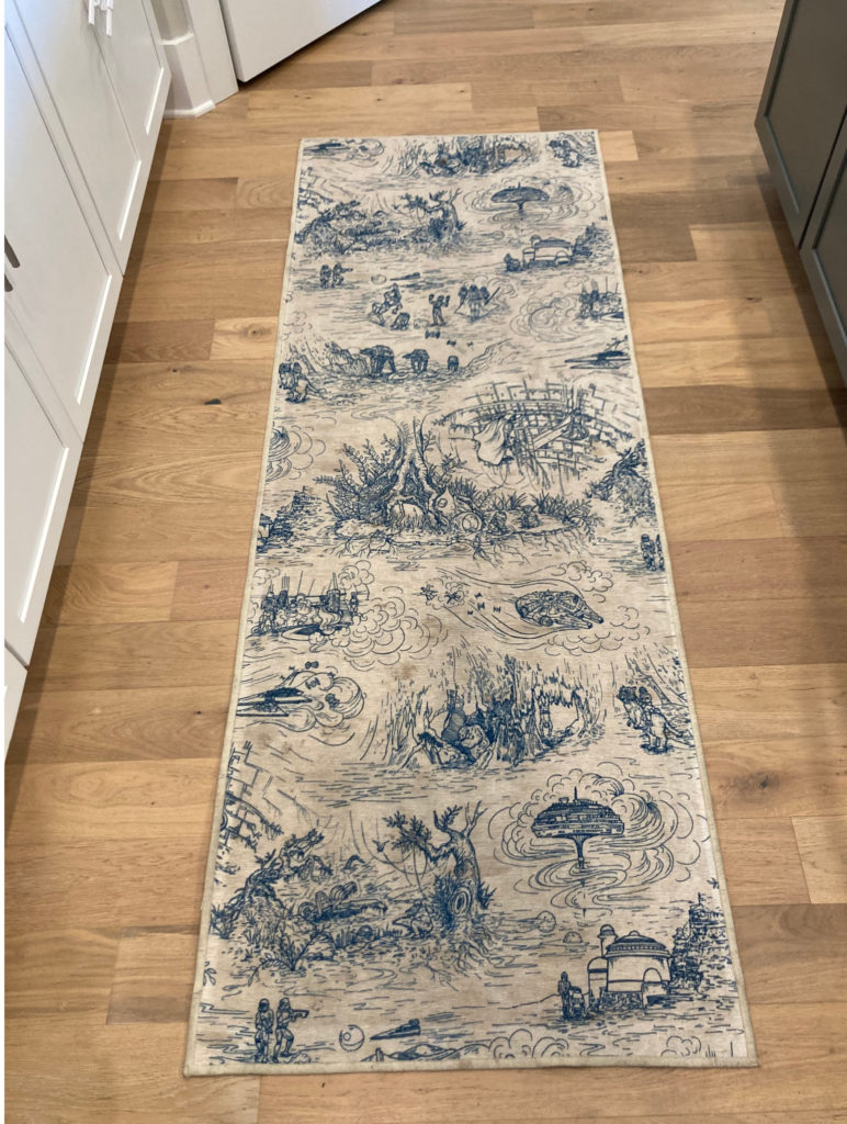 Our honest review of Ruggable rugs after buying one: Here's my Ruggable rug after about a month of traffic.