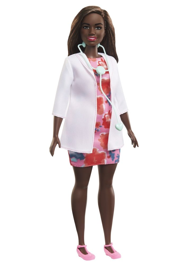 Purchase this Barbie doctor doll in August, and $5 will be donated to an incredible org helping the children of first responders