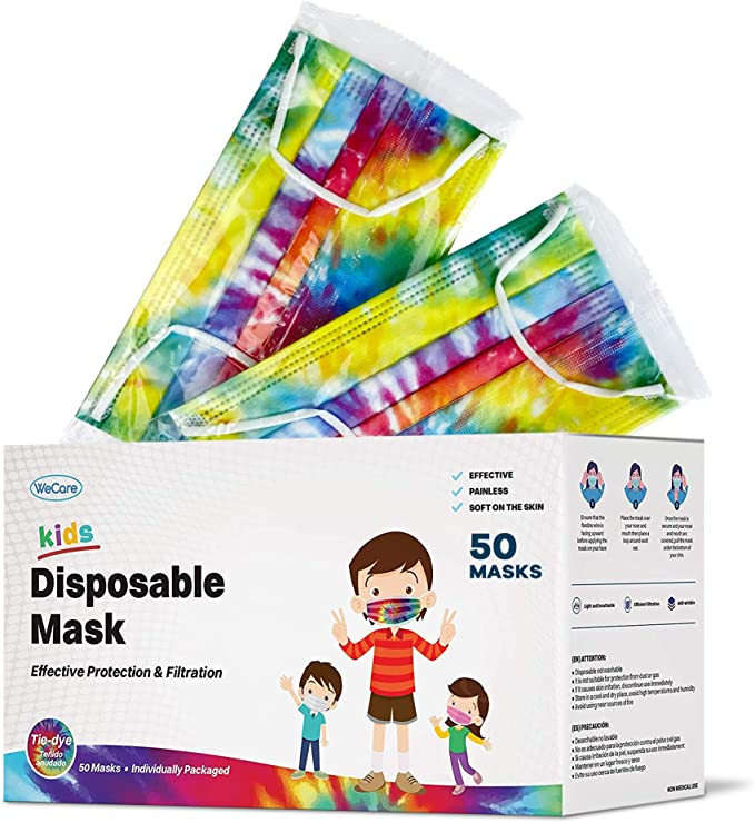 WeCare makes doctor recommended face-masks in kid and adult sizes ink lots of fun colors and prints