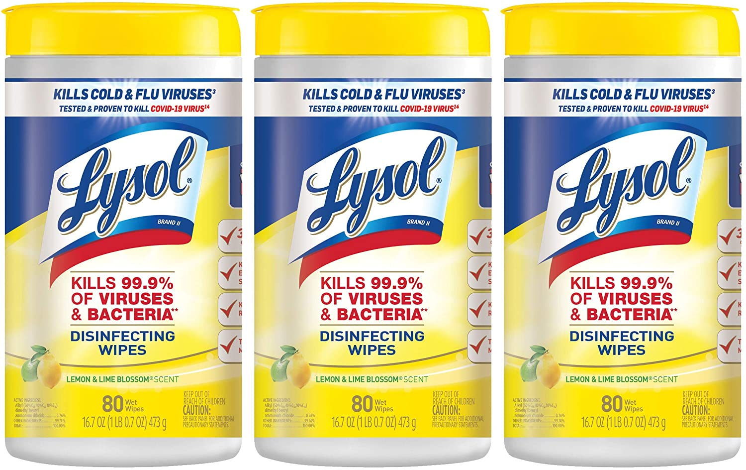 A few things to stock up on (ahem, not hoard) for cold, flu, and COVID season: Lysol wipes | Amazon