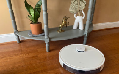 The ECOVACS Deebot N7 robotic vacuum cleans and mops your floors with the press of a button. Amazing!
