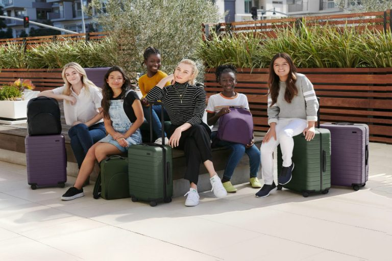 This new luggage collection helps an awesome cause - girls in tech!
