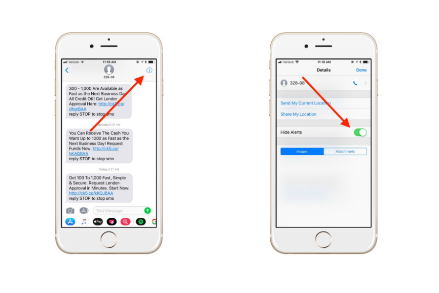 iPhone trick: How to mute text threads (but still get notifications for your other texts)