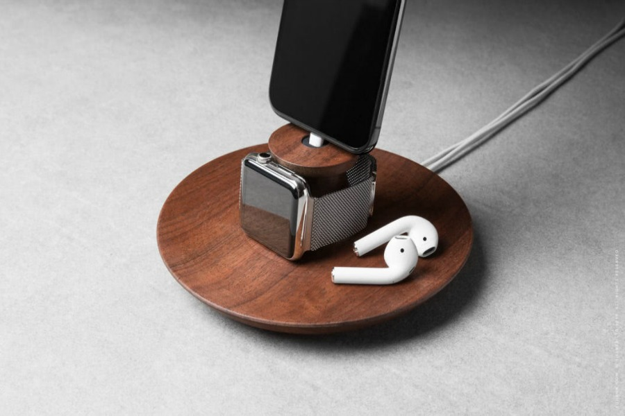These beautiful wooden stands give your gadgets a different kind of upgrade
