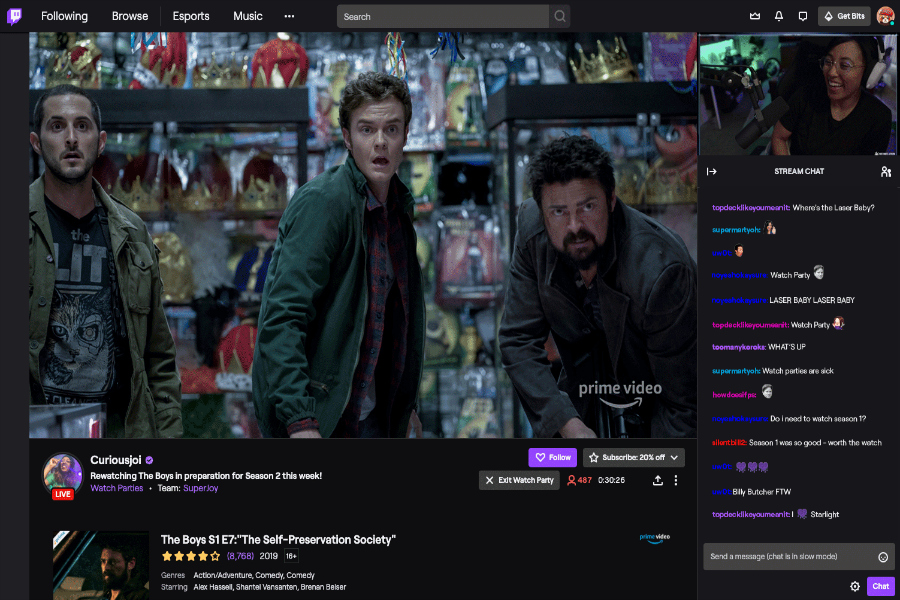 Here's what you need to know about Twitch Watch Parties (Think Netflix Party, but... on Twitch)