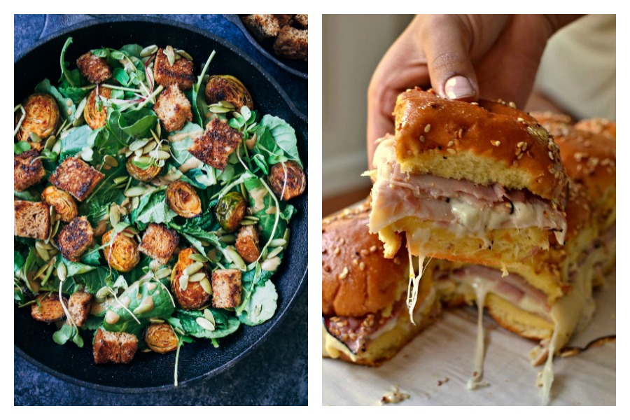 Weekly meal plan: 5 say meals for the week ahead, including an autumn panzanella salad and relaxed ham-and-cheese sliders