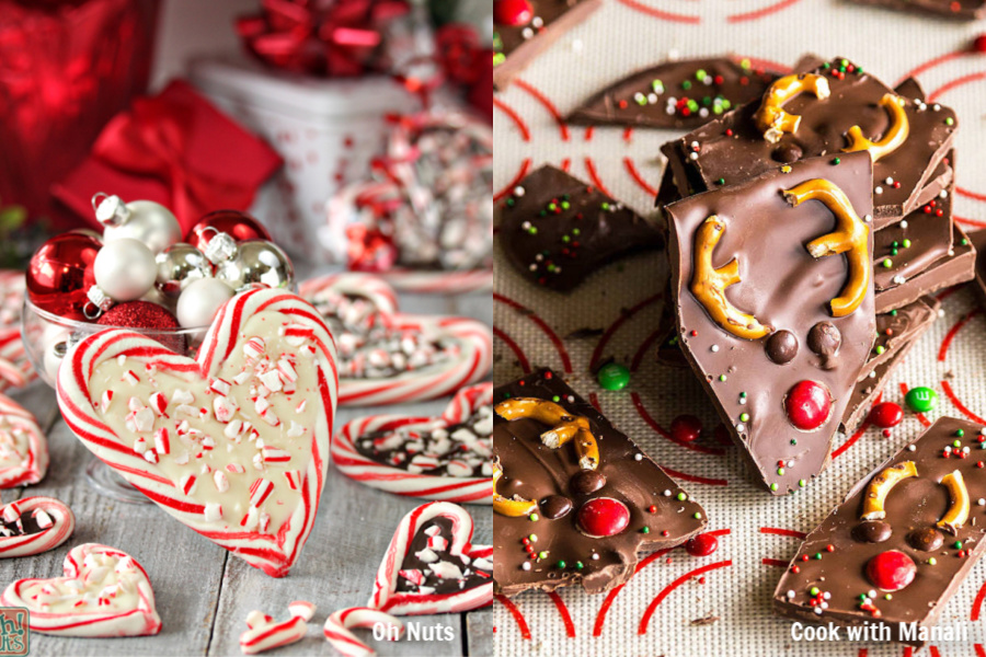 7 creative Christmas bark recipes, from melted snowmen to hidden reindeer faces