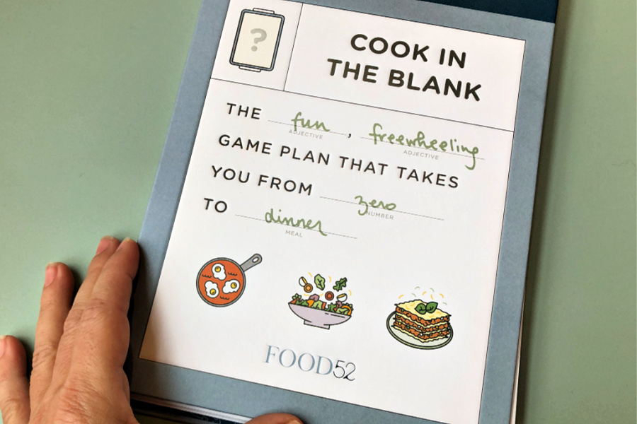 Cook in the Blank is like MadLibs meets practical cookbook...and it's genius