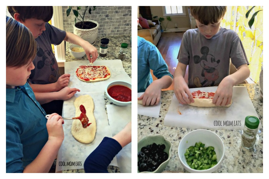 "Weekly meal plan: 5 easy meals the kids can help cook...because ""they're bored."""